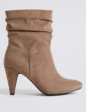 Marks and Spencer Wide Fit Side Zip Mid-calf Boots