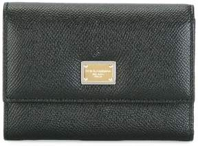 Dolce & Gabbana Dauphine leather flap wallet - BLACK - STYLE