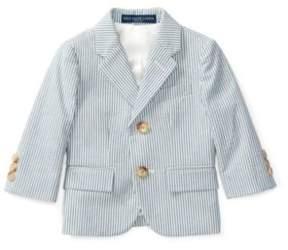 Polo Ralph Lauren Seersucker Sport Coat Blue/Cream 9M