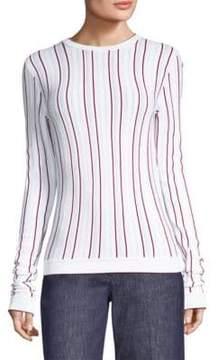 Derek Lam Striped Slim Pullover Sweater