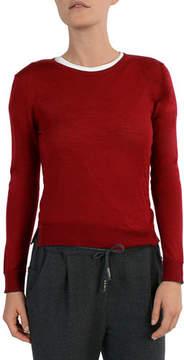 Eleventy Merino/Silk Crewneck Sweater