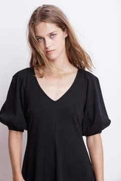Velvet by Graham & Spencer IGNACIA STRUCTURED COTTON V-NECK DRESS