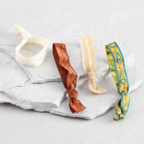 Mustard Fabric Hair Ties Set of 4