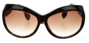 Dita Tortoiseshell Oversize Sunglasses