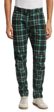 G Star 3D Tapered Plaid Cotton Jeans