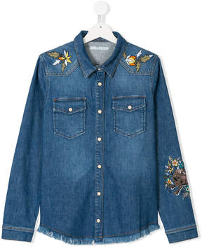 Zadig & Voltaire Kids TEEN embroidered denim shirt