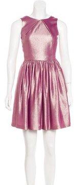 Mulberry Metallic A-Line Dress