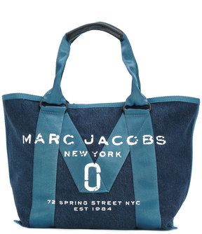 Marc Jacobs logo stitch panel tote - BLUE - STYLE