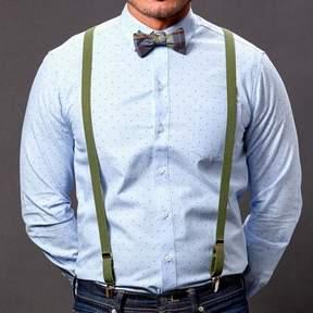 Blade + Blue Green Skinny Elastic Suspenders