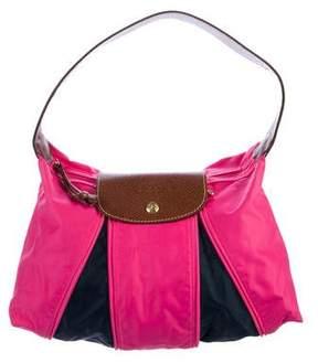 Longchamp Leather-Trimmed Nylon Shoulder Bag