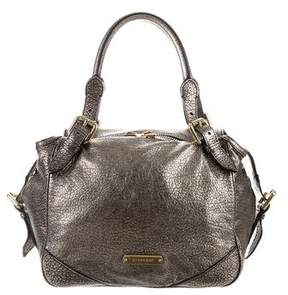 Burberry Metallic Grained Leather Shoulder Bag