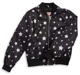 Urban Republic Girl's Star Bomber Jacket
