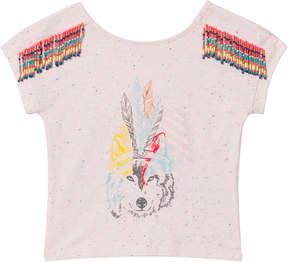 Billieblush Pale Pink Wolf Embellished T-Shirt