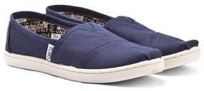 Toms Navy Classic Slip On Shoes