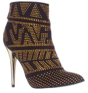 Thalia Sodi Ts35 Alejandra Mini Studded Pointed Toe Dress Boots, Black.