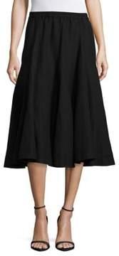 Context Linen-Blend Gored Skirt