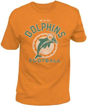 Authentic Nfl Apparel Men's Miami Dolphins Midfield Retro T-Shirt