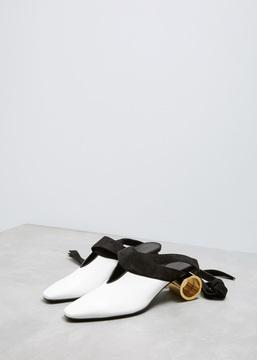 J.W.Anderson White Cylinder Heel Ballet Shoe