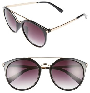 BP Women's 55Mm Mirrored Sunglasses - Black/ Gold
