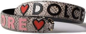 Dolce & Gabbana Snake Skin Embossed Appliqué Bag Strap - MULTICOLOUR - STYLE