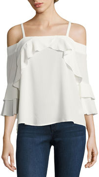 Almost Famous Short Sleeve Blouse-Juniors