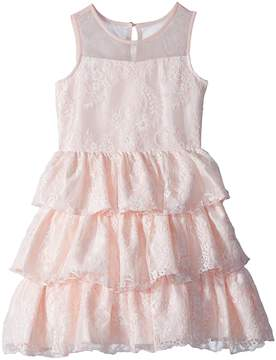 Us Angels Chantilly Lace Tiered Dress Girl's Dress