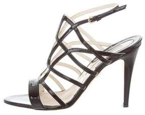 Brian Atwood Caged Patent Leather Sandals