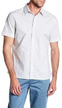 Perry Ellis Rectangle Short Sleeve Regular Fit Shirt