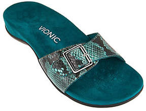 Vionic Orthotic Leather Slide Sandals- Santos
