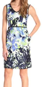 Nine West Women's Sleeveless Printed Sheath Dress