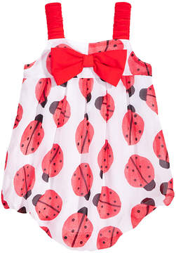 First Impressions Ladybug-Print Bubble Romper, Baby Girls, Created for Macy's