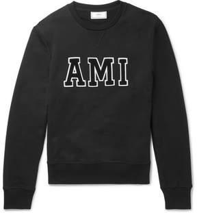 Ami Chenille-Appliquéd Loopback Cotton-Jersey Sweatshirt