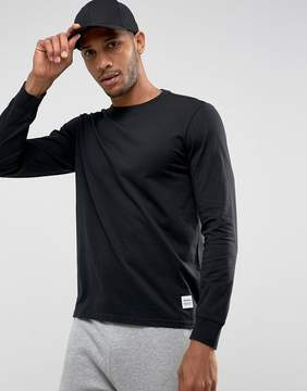 Converse Essentials Long Sleeve T-Shirt In Black 10004622-A01