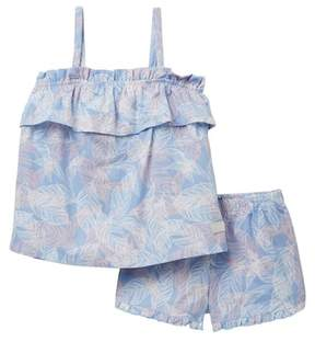 7 For All Mankind Matching Top & Short Set (Toddler Girls)