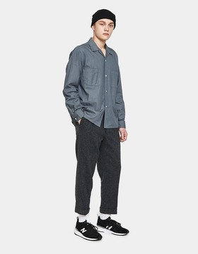 Beams 1 Pleat Trousers in Grey