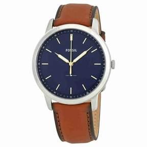 Fossil Minimalist Blue Dial Men's Leather Watch FS5304