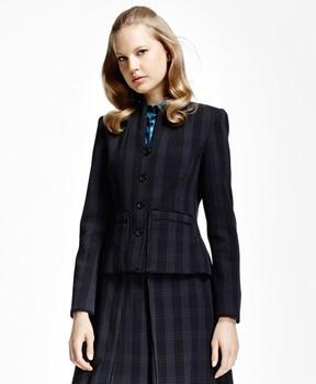 Brooks Brothers Plaid Corded Suit Jacket