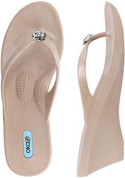 OKA b. Latte Kelsey Wedge Sandal - Women