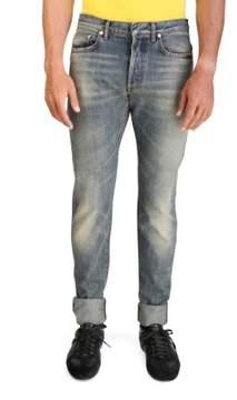 Christian Dior Men's Slim Fit Denim Jeans Pants Light Blue