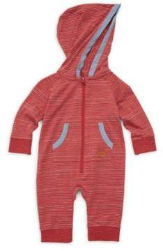 7 For All Mankind Baby's Striped Cotton Hooded Coverall