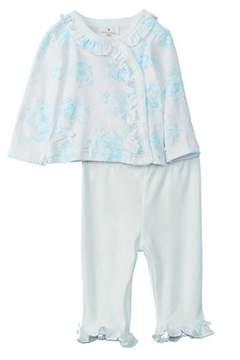 Laura Ashley Girls' 2pc Cardigan And Pant Set.