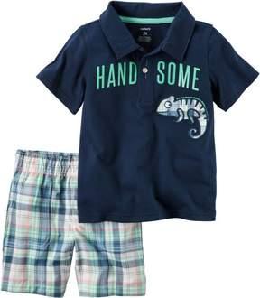 Carter's Baby Boys Handsome Plaid Shorts Set