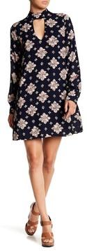 Dee Elly Mock Neck Pattern Dress
