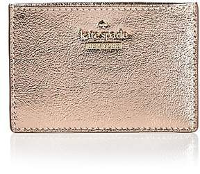 Kate Spade Cameron Street Saffiano Leather Card Case - PLANTINO/GOLD - STYLE