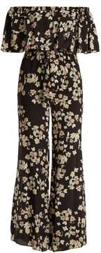 Athena PROCOPIOU Wild Grace off-the-shoulder silk jumpsuit