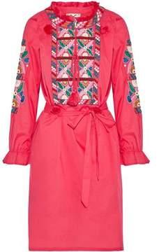 Figue Embellished Cotton-Poplin Dress