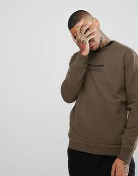 MHI Sweatshirt In Khaki With Logo