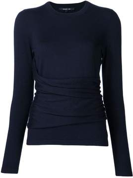 Derek Lam Long Sleeve Top With Gathered Side Detail
