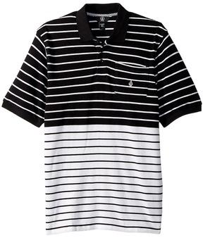 Volcom Wowzer Stripe Polo Boy's Short Sleeve Pullover