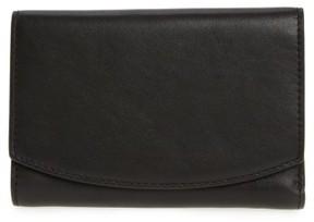Skagen Women's Compact Flap Leather Wallet - Black